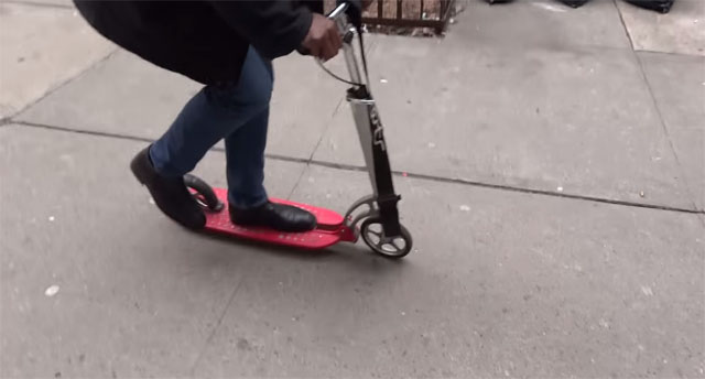 XOOTR MG First Ride In New York City by Petros Bogeas