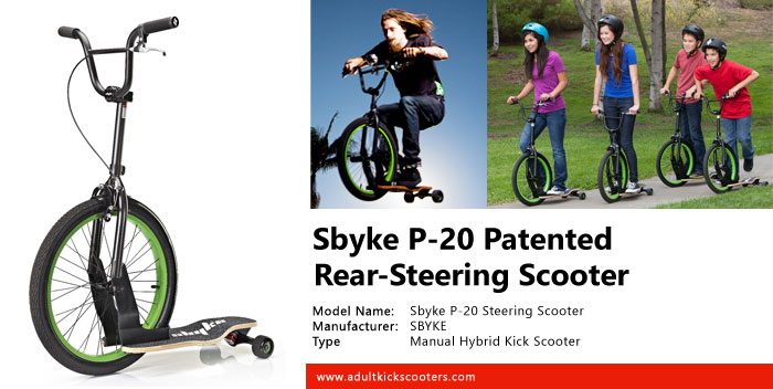 Sbyke P-20 Patented Rear-Steering Scooter Review