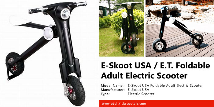 E skoot e t foldable electric super scooter review for Folding motorized scooter for adults