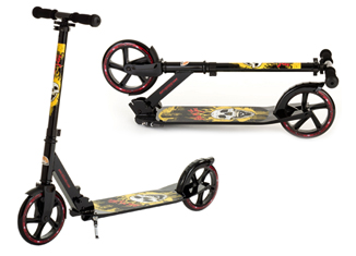 BikeStar Foldable Aluminium Black And Gold Kick Push Scooter Review