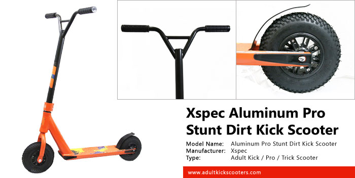 Xspec Aluminum Pro Stunt Dirt Kick Scooter Review