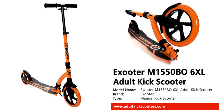 Exooter M1550BO 6XL Adult Kick Scooter Review