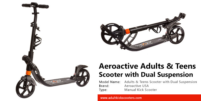 Aeroactive USA Adults And Teens Scooter with Dual Suspension Review