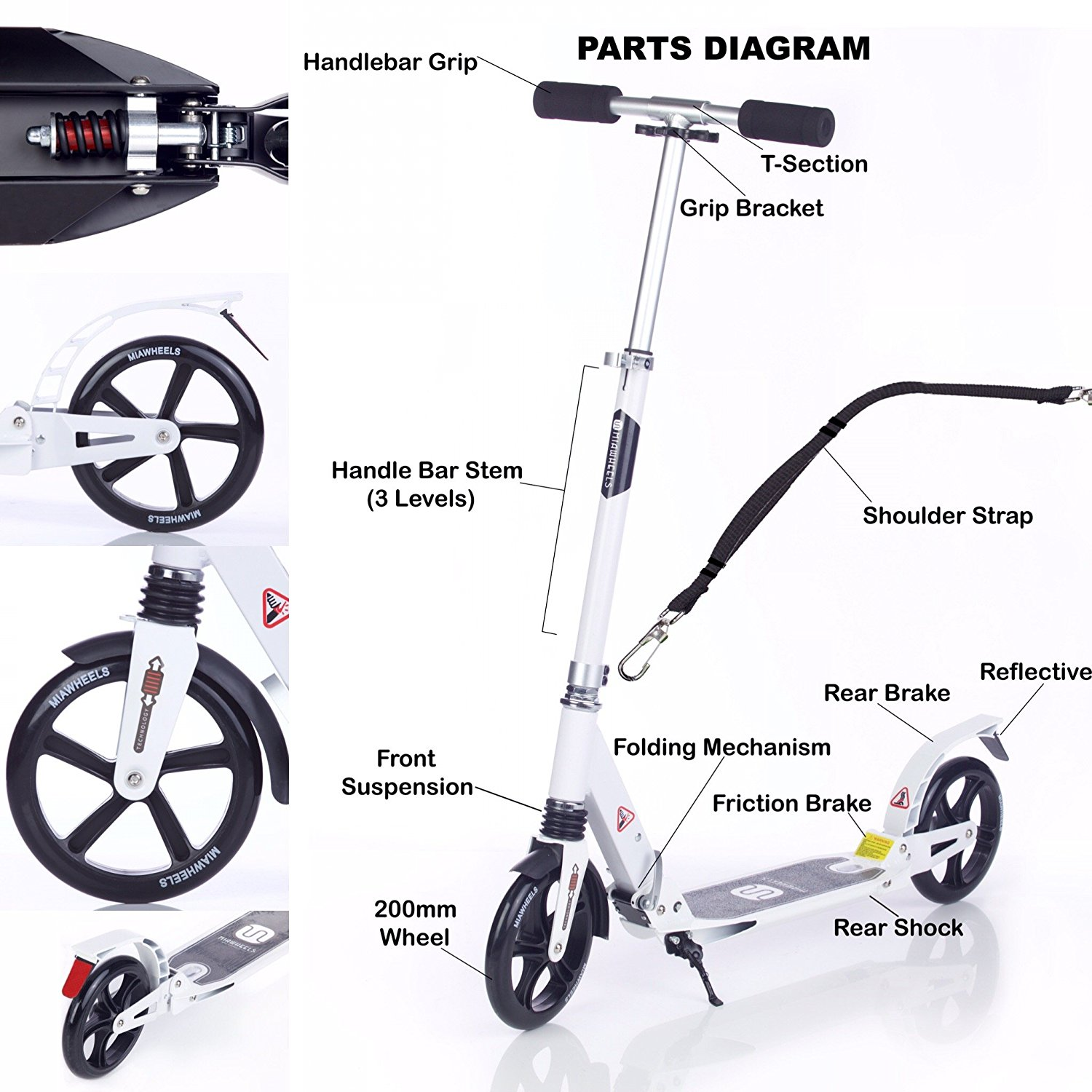 MIAWHEELS Kick Scooter Review | adultkickscooters.com
