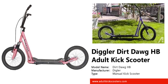 Diggler Dirt Dawg HB Adult Kick Scooter
