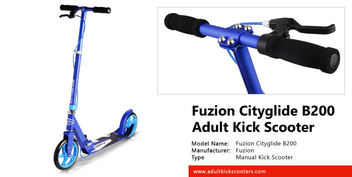 fuzion cityglide b200 adult kick scooter