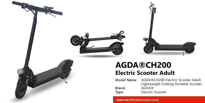 Agda 174 Ch200 Electric Scooter Adult Lightweight Folding