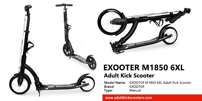 EXOOTER M1850 6XL Adult Kick Scooter Review
